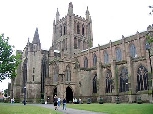 Hereford Cathedral © Copyright Jeff Buck and licensed for reuse under this Creative Commons Licence.