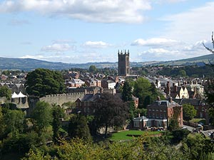 A view of Ludlow from Whitcliffe