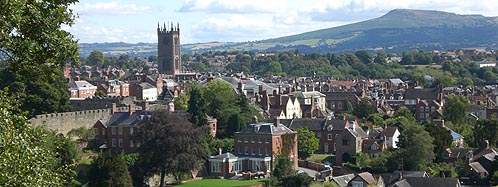 Ludlow viewed from Whitcliffe